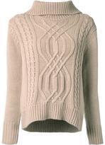 GUILD PRIME cable knit turtleneck jumper
