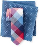 Original Penguin Nedra Check Tie & Pocket Square Set