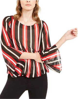 Alfani Striped Angel-Sleeve Top