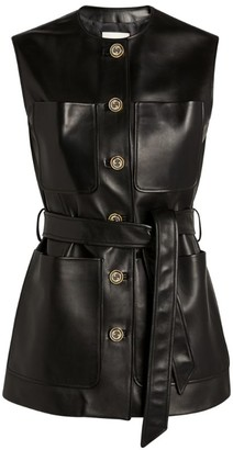 Gucci Belted Leather Gilet