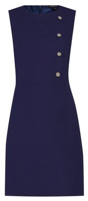 Dorothy Perkins Womens Navy Button Shift Dress