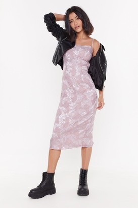 Nasty Gal Womens Grow You a Good Time Jacquard Midi Dress - purple - 12