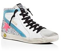 Golden Goose Girls' Slide Glitter Embellished High-Top Sneakers - Toddler Little Kid