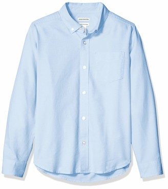 Amazon Essentials Husky Long-sleeve Oxford Shirt Button Blue XL(H)
