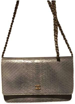 Chanel Wallet on Chain Grey Python Handbags