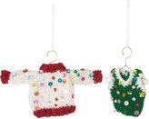 Amica - Felt Sequin Jumper & Vest Tree Decorations - Set of 2