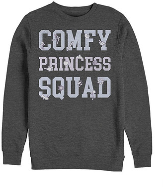 Fifth Sun Men's Pullover Sweaters CHAR - Wreck-It-Ralph Charcoal Heather 'Comfy Princess Squad' Sweater - Men