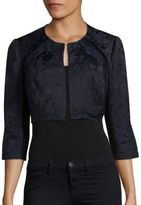 Kay Unger Jacquard Cropped Jacket