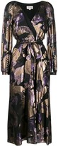 Temperley London metallic wrap dress