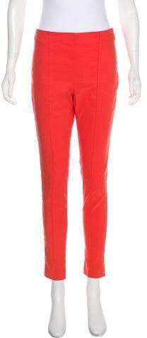Veronica Beard Mid-Rise Linen-Blend Pants