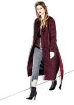 3.1 Phillip Lim Slim Car Coat with Embroidered D-ring Detail
