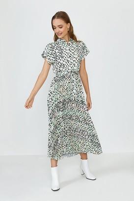 Coast Short Sleeve Floral Print Shirt Dress