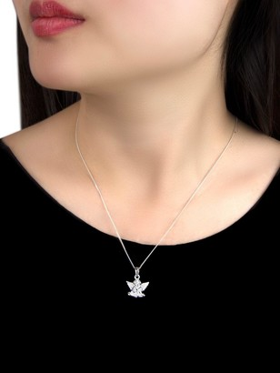 The Love Silver Collection Sterling Silver Cherub Pendant Necklace