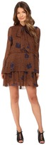 See by Chloe Leopard Spot Tie Neck Dress
