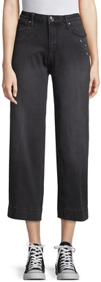 Seven7 High-Rise Wide-Leg Cropped Jeans