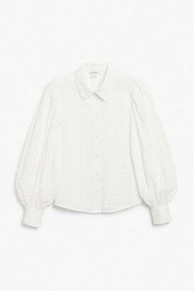 Monki Balloon sleeve shirt