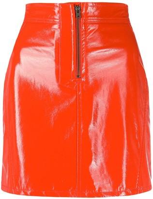 Fiorucci Vinyl Mini Skirt
