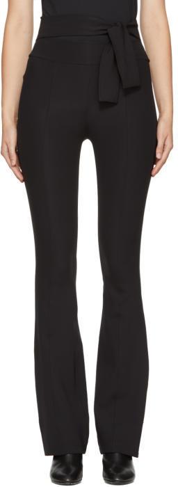 Helmut Lang Black Flared Legging Trousers