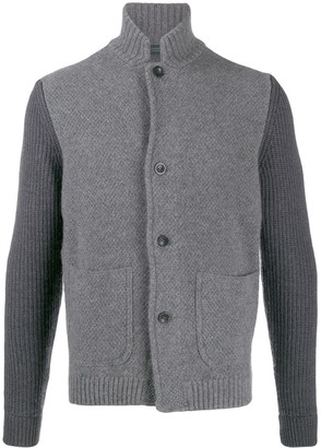 Zanone Contrast Sleeve Knitted Jacket