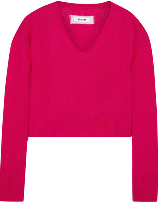 RE/DONE Cropped Wool And Cashmere-blend Sweater
