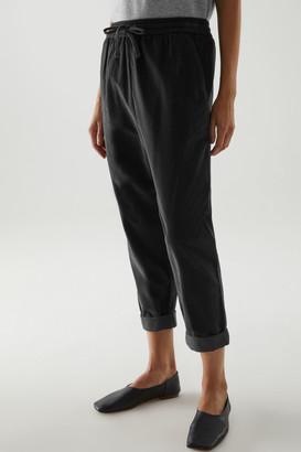 Cos Cotton Jogger-Style Corduroy Pants