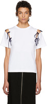 Facetasm Ssense Exclusive White Tie Shoulder T-shirt