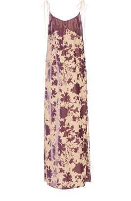 Philosophy di Lorenzo Serafini Floral-Print Devore Slip Maxi Dress
