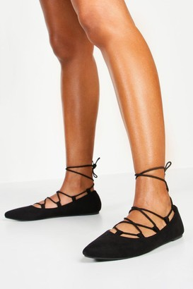 boohoo Ghillie Pointed Ballets