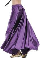 Aivtalk Belly Dance Long Satin Full Circular Swing Dance Skirt