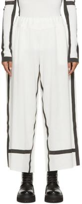 Issey Miyake White Bold Frame AP Lounge Pants
