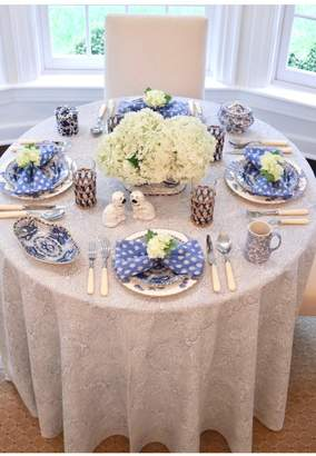 India Amory Periwinkle Paisley Tablecloth Round Rectangular
