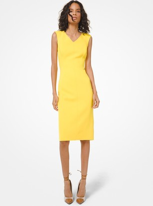 Michael Kors Collection Double-Face Stretch Boucle Sheath Dress