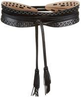 BCBGMAXAZRIA Whipstitch Faux-Leather Waist Belt
