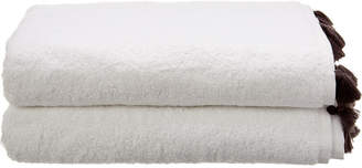 Melange Home Tasseled Bath Towel 2Pc Set