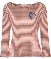 Kain Label Amelia Appliquéd Striped Stretch-Modal Top