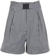 N°21 N.21 Flared Checked Shorts