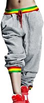 Allegra K Women Elastic Waist Stripes Detail Loose Hip Hop Trousers XS