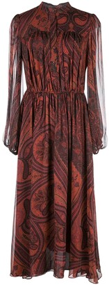 Adam Lippes Chiffon Paisley Print Dress