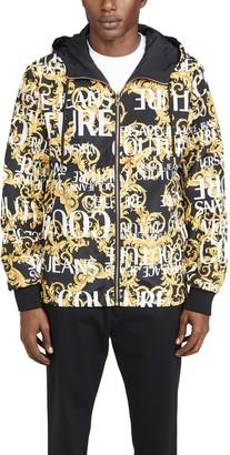Versace Logo Baroque Print Reversible Nylon Jacket