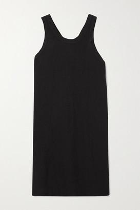 Bassike Organic Cotton-trimmed Linen-jersey Mini Dress - Black