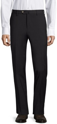 Pt01 Traveler Flat Front Techno Wool Trousers