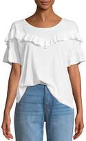 Paige Adalie Ruffle Short-Sleeve Top