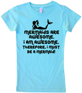 Micro Me Aqua 'Mermaids Are Awesome' Tee - Infant Toddler & Girls