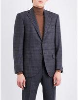 Corneliani Checked Leader-fit Wool Jacket