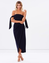 Shona Joy Core Tie Shoulder Bustier Dress