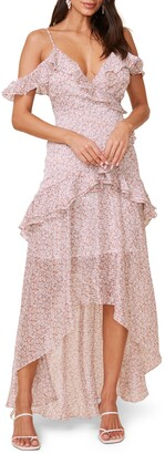 ASTR the Label High/Low Tiered Ruffle Maxi Dress
