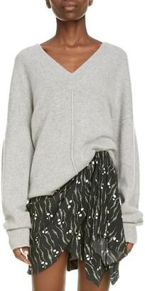Isabel Marant Oversize V-Neck Cashmere Blend Sweater