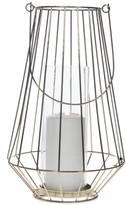 "Home Essentials Asele 13.75"" Gold-Tone Wire Lantern"