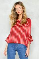 Nasty Gal Straight Forward Striped Top
