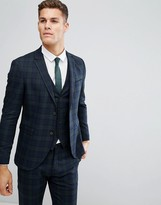 Jack & Jones Premium Skinny Suit Jacket In Blackwatch Check